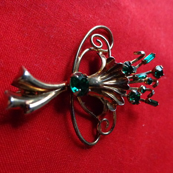 Bond Boyd Sterling Silver Gold-Washed Vintage Pin - Fine Jewelry