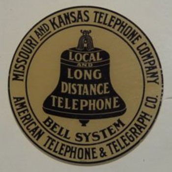 Missouri and Kansas Telephone Company Sticker