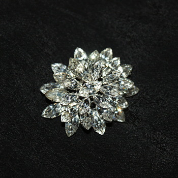 Vintage Rhinestone Brooch - Made in Austria