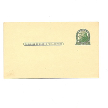 Unused U.S.Postal Card One Cent w/Jefferson