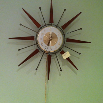 Solar Sunburst clock.