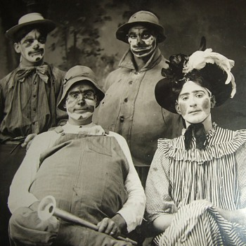 """Bunch of Clowns""  Real Photo PostCard"