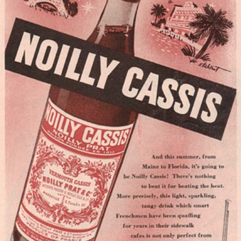 1950 Noilly Cassis Advertisement - Advertising