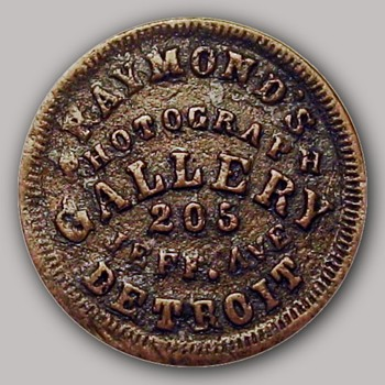 Early Photographic Gallery Token – Raymond's Photograph Gallery. 1863