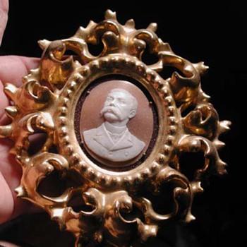 Museum quality cameo of man