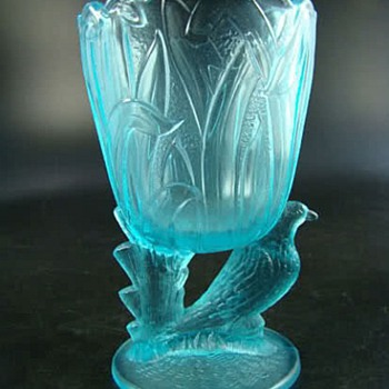 Guernsey Glass Dove & Rushes Spooner - Glassware