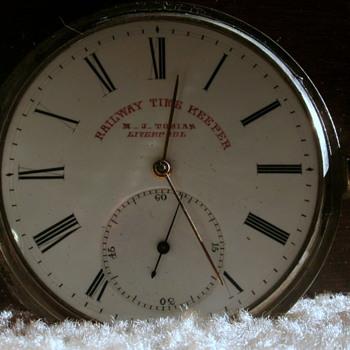 Pocket Watch M.J.Tobias Liverpool england (Railroad Time Keeper) - Pocket Watches