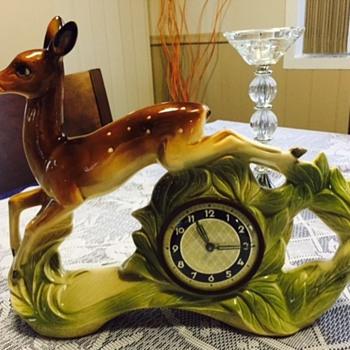 Jema Holland Medium Leaping Deer Fawn numbered (458) - Clocks