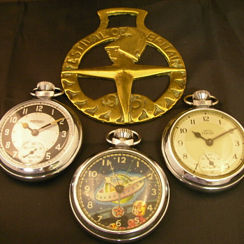 1951 Festival of Britain Memorabilia - Pocket Watches