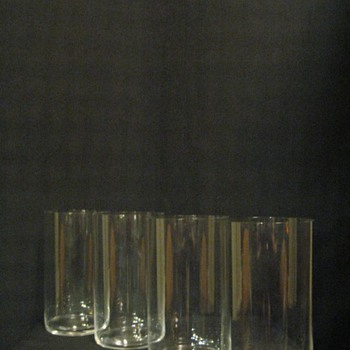 "RIEDEL  ""O"" TALL WATER GLASSES - Art Glass"