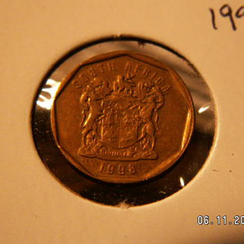 1998 South Africa 10 Cents - World Coins