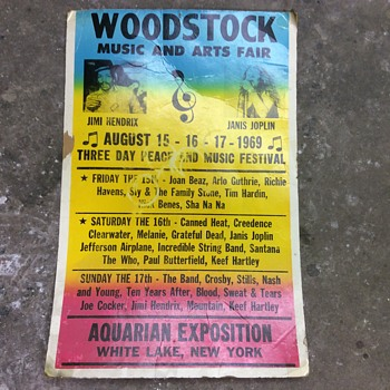 Woodstock Music and Art Festival poster - Posters and Prints