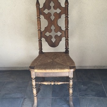 Antique Country French Rush Chair