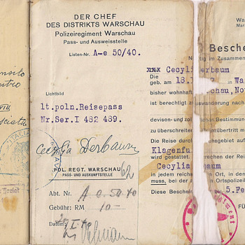 WW2 Polish passport  - Paper