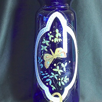 Art Glass Vase Cobalt Blue 1900 -1920 - Art Glass