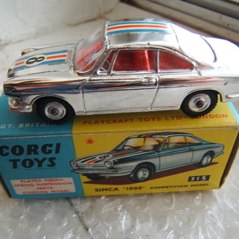 Corgi Toys 315 Simca 1000 Competition Model - Model Cars
