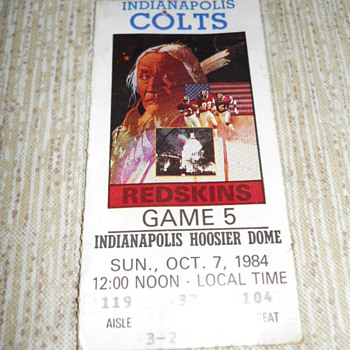 Colts v.s. Washington Redskins - Football