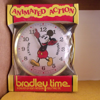 "Animated ""Walking"" Mickey Mouse Alarm  - Clocks"