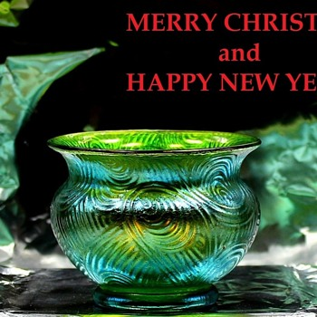 Merry Christmas - Art Glass