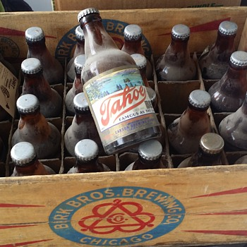 1940's CASE OF TAHOE BEER FROM CARSON CITY BREWERY NEVADA  - Breweriana