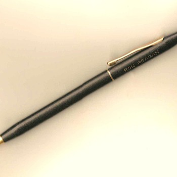 "Vintage Cross Ballpoint Pen - ""Ron Reagan"" - Pens"