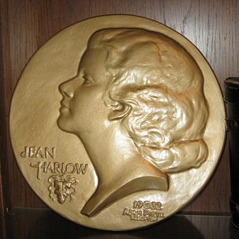 Jean Harlow Ceramic Plate by sculptor Adam Pietz