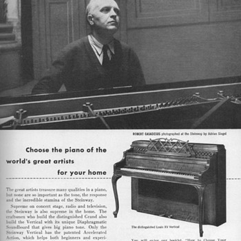 1952 - Steinway &quot;Louis XV&quot; Piano Advertisement - Advertising