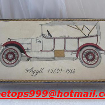 Argyll Car Box    15/30  1914  Schotland?  Collectors Item