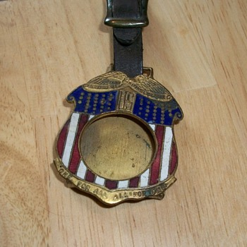 Earlier Political Campaign Watch Fob - Pocket Watches