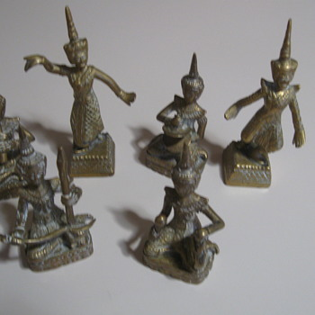 brass set wanting to know country they were made  - Asian