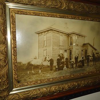 A True Antique...Oak Framed Family Photograph...1800's - Photographs