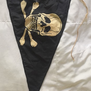 World War 2 German SS Skull Pennant Flag