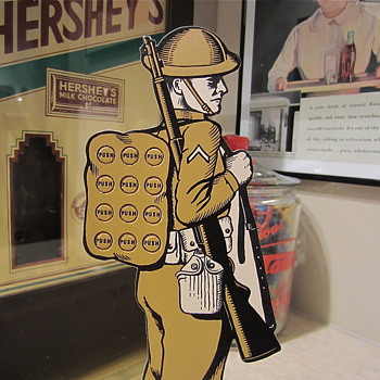 Pre WW2 Military Private Punchboard - Advertising