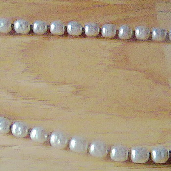 RARE Miriam Haskell Signed Vintage 30&#039;s Baroque Pearl Necklace - Costume Jewelry