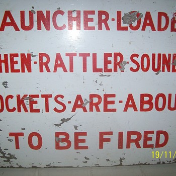 Anti aircraft defence warning sign WW2 River Severn estuary UK - Military and Wartime