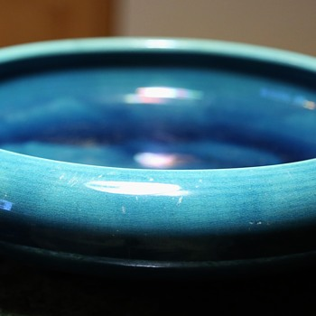 Very Large, Blue Footed Bowl - Awaji! - Art Pottery