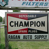 RARE CHAMPION SPARK PLUG 6FT X 4FT OUTDOOR SIGN