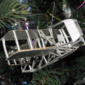 Antique warplane Xmas ornaments - Christmas
