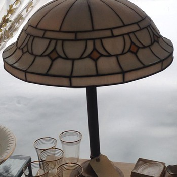 Slag glass lampshade?