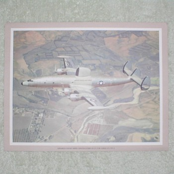 Lockheed Radar Super Constellation Airplane Print