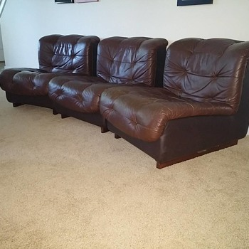 Swedish Leather 8 Piece Sectional - Furniture