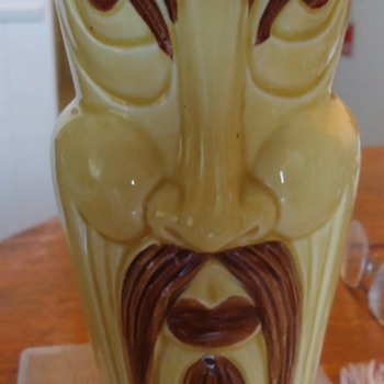 Someone lock me up! And throw away the key!!!  Fu Manchu (ugly, silly, etc.) Vase from Japan for Orchids Hawaii!???  $2.50