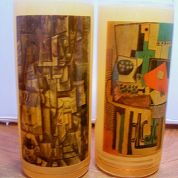 Abstract Art Rubberized Glass - Glassware