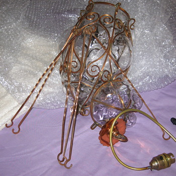 Caged Glass light fitting