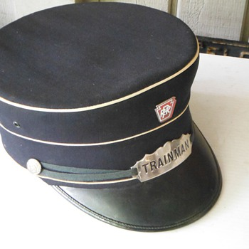 Vintage Pennsylvania Railroad PRR Trainman Hat Authentic - Railroadiana