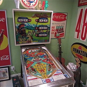 My 1974 Williams Little Chief Pinball Machine - Coin Operated