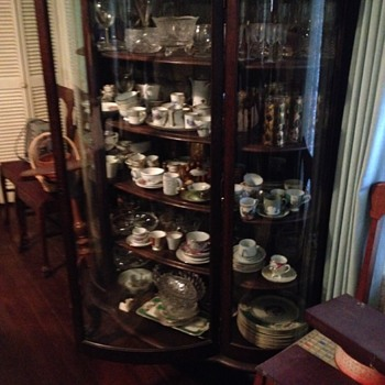 Bow Front China Cabinet - Furniture