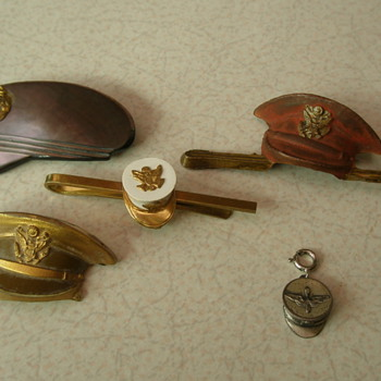 WW2 Sweetheart Military Headgear Pins - Military and Wartime
