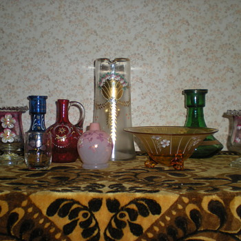 My small collection of Bohemian enamelled glass. - Art Glass