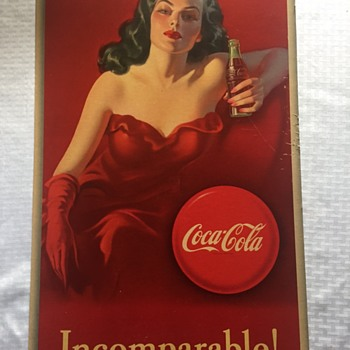 Lady in Red Coca Cola Poster 1947